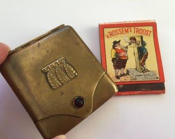 Vintage Brass Match Case. Vesta Case, Match Case Holder