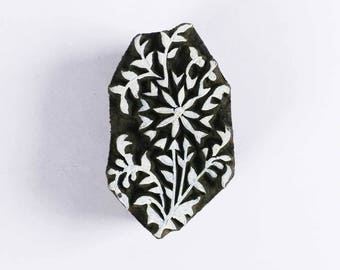 Flower Wooden Stamp-Fabric Paper Clay and Wall Stamping-Handcarved Wooden Stamp-Pottery Making-Wall Decoration Scrapbooking Ideas