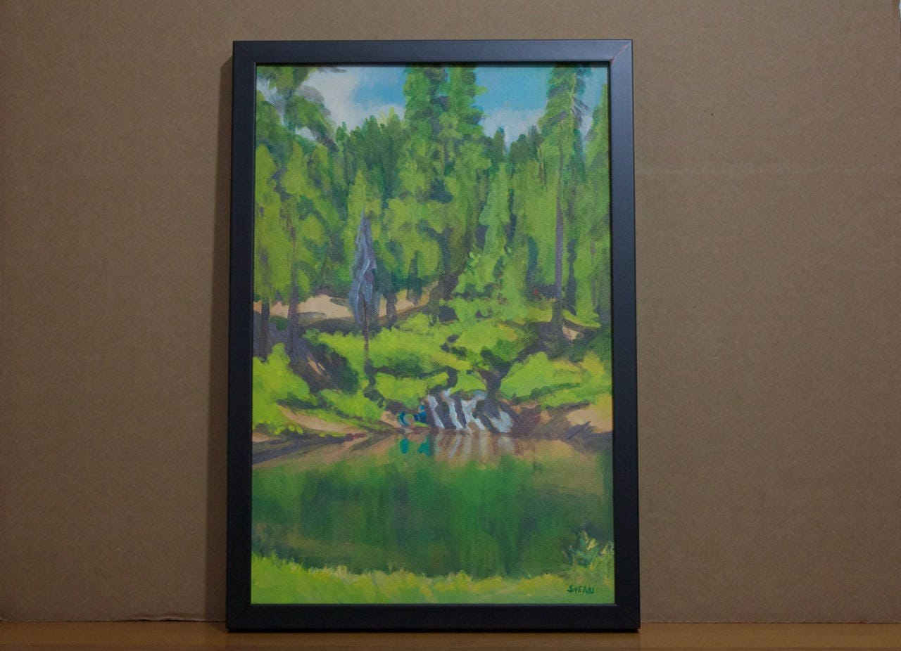 Fishing painting wickiup reservoir oregon original by for Wickiup reservoir fishing