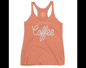 Womens Orange Tank Top - Orange Coffee Shirt - Orange Namaste Shirt - I Cant Adult Shirt - Lets Do This Shirt - Orange Yoga T - Flash Sale