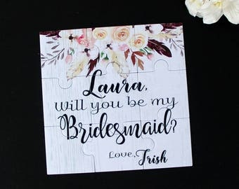 Ask Bridesmaid Will You Be My Bridesmaid Proposal Gift Will You be My Flower Girl Puzzle Invitation Will you be My Maid of Honor Puzzle
