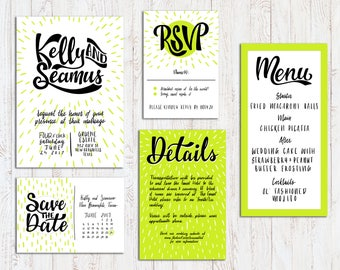 Hand-Lettered, Bespoke, One-of-a-Kind, Custom, Printable Wedding Invitation