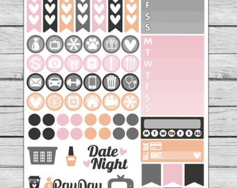 Glam Witch Functional Planner Stickers