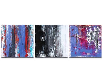 Abstract Wall Art 'Urban Triptych 4' by Celeste Reiter - Urban Decor Contemporary Color Layers Artwork on Metal or Plexiglass