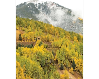 Landscape Photography 'Changing Season' by Meirav Levy - Autumn Nature Art Contemporary Mountain Trees Decor on Metal or Plexiglass
