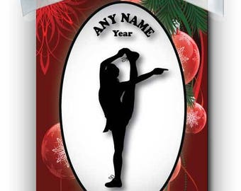 Cheerleader Competition 4 Silhouette Personalized Ornament