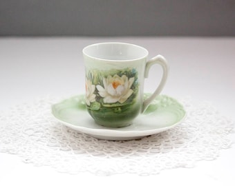 Antique Demitasse  or Tea Cup by Three Crown China Germany