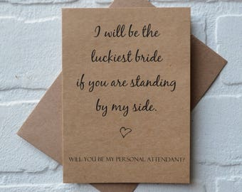 I will be the LUCKIEST BRIDE if you're by my side will you be my junior bridesmaid card bridal party bridesmaid card wedding party proposal