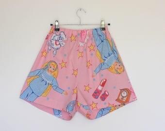 Upcycled Barbie Shorts.