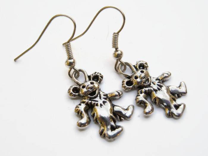 Dancing bear earrings-2803