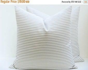 15% Off Sale Pillow Ticking Pillow Decorative  Cream Pillow Cover Decorative pillows for couch Tan Pillow Cover Country decor Country pillow