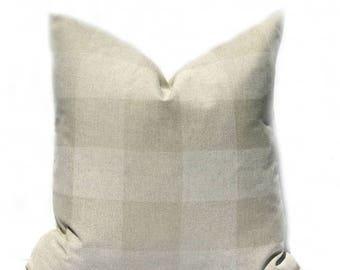 15% Off Sale Tan Pillow cover, Buffalo Check Pillow, Throw Pillow Cover, Taupe Pillow, Check Pillow, Plaid Pillow Cover, Accent Pillow, Toss