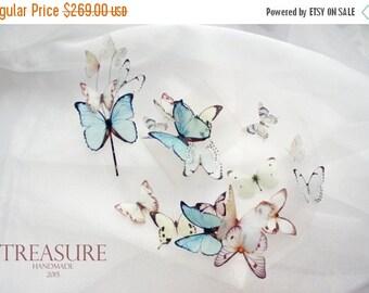 SALE Bridal jewelry set, butterfly jewelry set, butterfly necklace, butterfly bracelet, butterfly hair pin, summer bridal jewelry, wedding j
