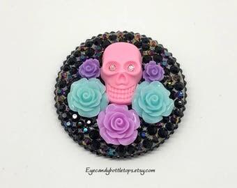 Pink Skull Brooch