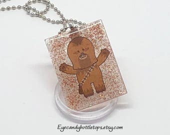 Chewbacca Resin Charm Necklace