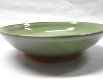 Pottery Serving Bowl Medium Ceramic Bowl Pottery Pasta Bowl Pasta Serving Bowl Ceramic Serving Bowl Medium Green Serving Bowl