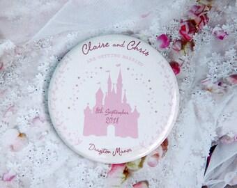 FAIRYTALE DISNEY CASTLE design - Save the Date / Wedding Favour Magnets x 40