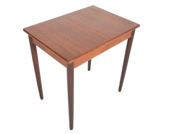 Danish Mid Century Modern Small Teak Desk Dining Console Table