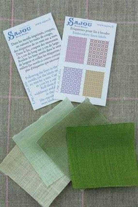 Haberdashery linen assortment of Sajou, DIY kit in miniature for the Doll House, dollhouse miniatures, green