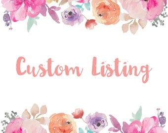 Custom Listing Reserved for (Emma Caruso) –Haven + Marla Save the Date