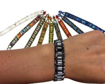 Wholesale Pack 10 Beaded Bracelet (032BE)