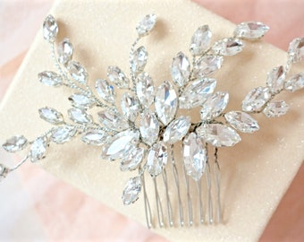 Rhinestone Hair Comb, Crystal Hair Comb, Bridal Hair Comb, Wedding Hair Comb, Crystal Hair Piece, Rhinestone Hair Piece, Bridal Hair Piece