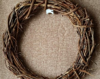 """Grapevine Wreath Wreaths 24"""" Floral Wedding Twig Handmade Primitive Natural Rustic Craft Supply Made in Michigan by colonialcrafts on Etsy"""