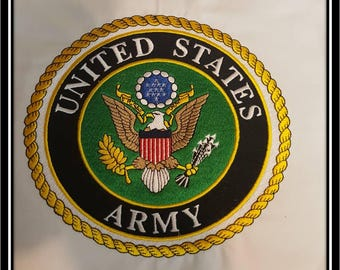 Embroidered United States Army Patch Quiltblock Military Patch