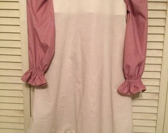 Colonial Little House on the Prairie dress  pinafore  bonnet