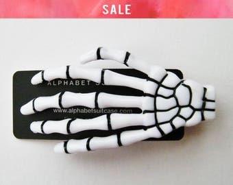 SALE Skeleton Hand Hair Clip