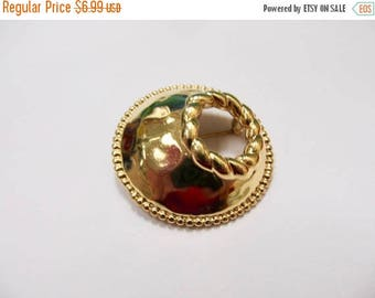 ON SALE MONET Abstract Gold Tone Circle Pin Item K # 2058