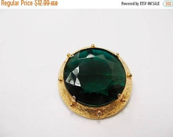ON SALE VANS Authentics Facetted Green Glass Stone Pin Item K # 827
