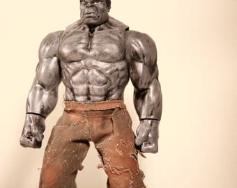 custom painted grey hulk 12 inch action figure