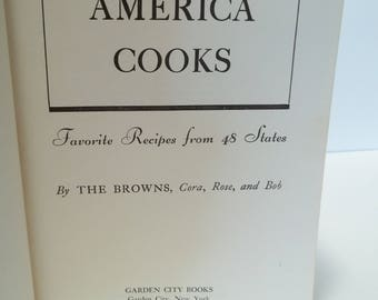Vintage 1940 America Cooks  Cookbook Recipes from 48 States
