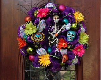 Deluxe Day of the Dead Wreath