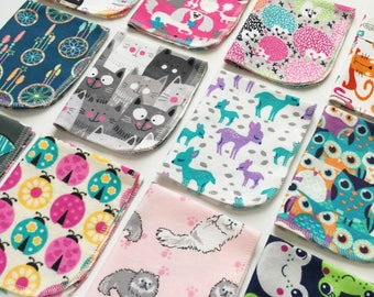 Girls theme cloth paper towels, cloth napkins, eco friendly, kitchen towels, cleaning towels, cloth wipes