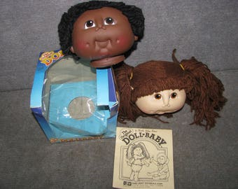 Vintage 1984 Original Doll Baby Martha Nelson Thomas African American Doll heads Box Certificate