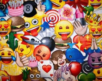 Child's Long Sleeve Art Smock -  Emoji - Heart Eyes - unicorn - crown