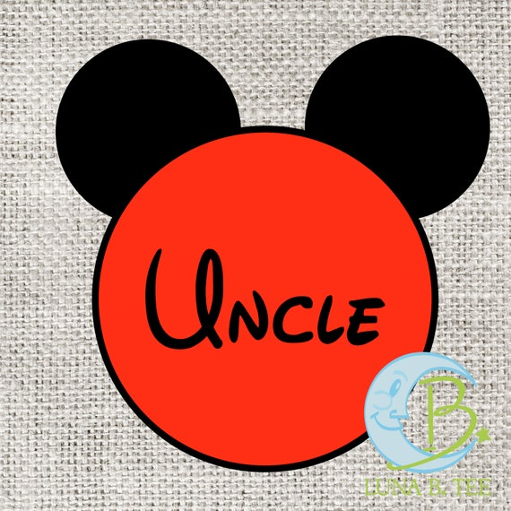 INSTANT DOWNLOAD Disney Uncle Family Vacation Printable DIY Iron On to Tee T-Shirt Transfer - Digital File
