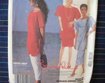 vintage 1980s McCalls sewing pattern 3120 top skirt and pants size 6-8 Brooke Shields