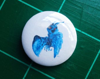 Buttons 1 inch badge Cryptid Mothman bigfoot sasquatch UFOalien Portland Cryptozoology Cryptid culture Cryptids paranormal pin