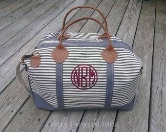 Weekender Bag with Monogram, Weekender Bag, Canvas Duffle Bag, Embroidered Duffle Bag, Monogram Weekender Bag, 8 Weekender Bag Colors