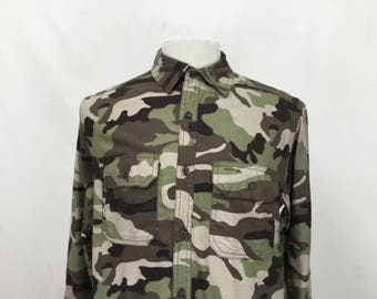 Camo Print Flannel Shirt