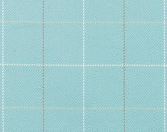 Aqua Blue Plaid Upholstery Fabric Large Scale Plaid Furniture Fabric Custom Aqua Blue Pillow