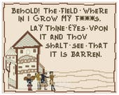 Barren Field of F**ks (with people) - Cross-Stitch Pattern - MATURE - Memes - INSTANT DOWNLOAD