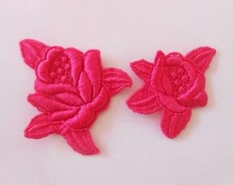 2 pink fuchsia lace