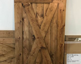 Custom Full X Barn Door Shutters