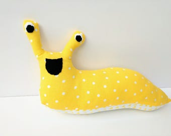 Yellow Banana Slug Plush / Yellow Stuffed Animal Banana Slug Plush