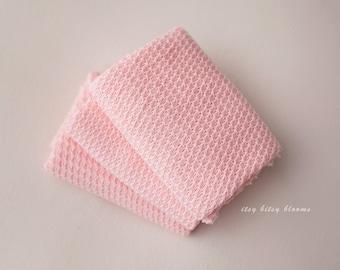 Newborn Stretch Wrap, Bubblegum Newborn Wrap, Newborn Photo Prop, Pink Newborn Wrap, Textured Pink Wrap, Pink Stretch Knit Wrap, RTS