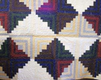 Log Cabin Wonder. Full size quilt
